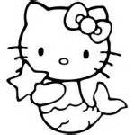similiar hello kitty mermaid coloring pages keywords