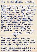 Man Says Now Dead Buddy Confessed To Being Zodiac Killer Gallery For Zodiac Letters Unsolved JACK THE RIPPER ZODIAC CIPHERS The Zodiac Cipher