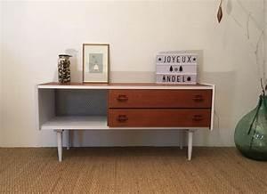 Meuble Tv Vintage : meuble tv vintage b n dicte relooking de meubles lilibroc ~ Teatrodelosmanantiales.com Idées de Décoration
