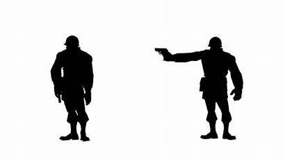 Shooting Animated Silhouette Soldier Loop Noble Cause