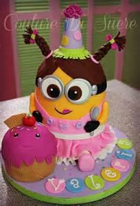 Girls Minion Birthday Cake
