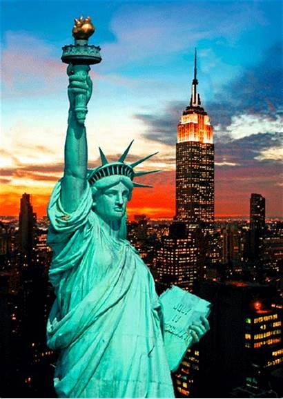 Liberty Statue York Animated Nyc Animation Gifer