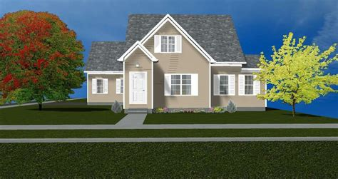 beautiful  story cape  house plans sq ft ebay
