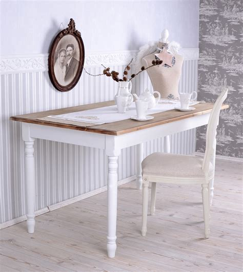 dining room table shabby chic dining table white kitchen