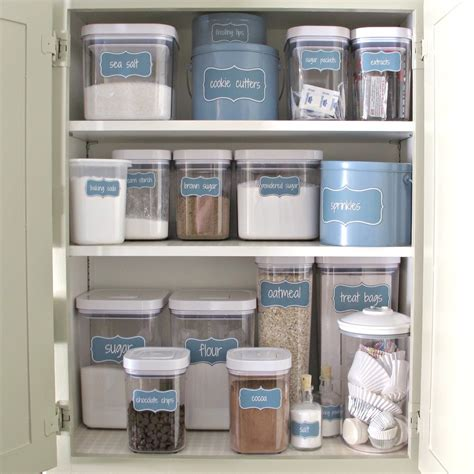 kitchen storage labels organize a baking cabinet with free printable pantry labels 3160