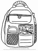 Backpack Coloring Backpacks Printable Entitlementtrap Tocolor sketch template