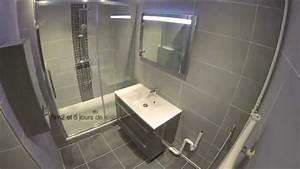 renovation integrale d39une salle de bain realisee par la With porte de douche coulissante avec aerateur silencieux salle de bain