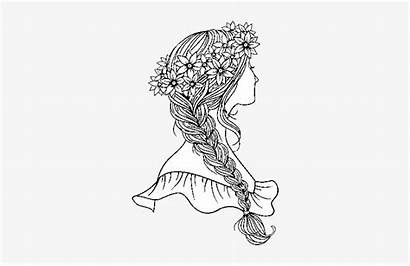 Coloring Pages Hair Braid Braided Hairstyle Sheets