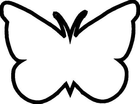 butterfly outlines clipart   cliparts