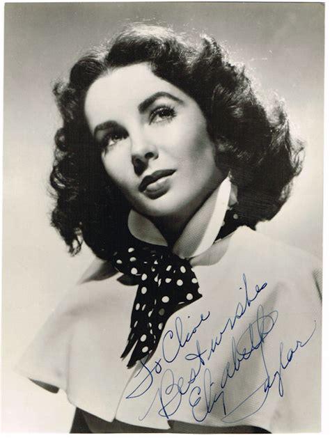 elizabeth taylor autograph signed photo