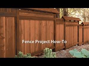 how to stain a fence youtube With clear fence paint