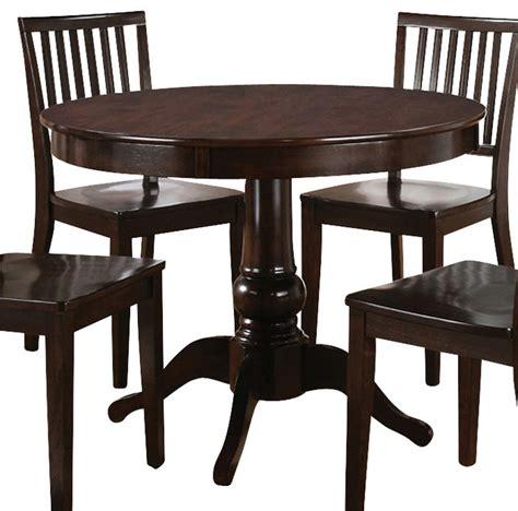 Steve Silver Candice Round Dining Table In Dark Espresso