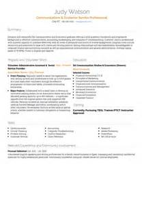 customer service sle resume