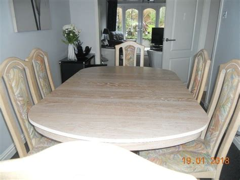 limed oak kitchen table cousins limed oak extendable dining table 6 chairs in