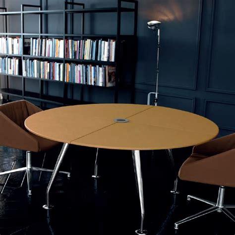 table ronde bureau tables de réunion table ronde de réunion en cuir