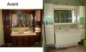Relooking Salle De Bain Avant Apres : salle de bain avant apr s amphora artisan meubles peints ~ Zukunftsfamilie.com Idées de Décoration