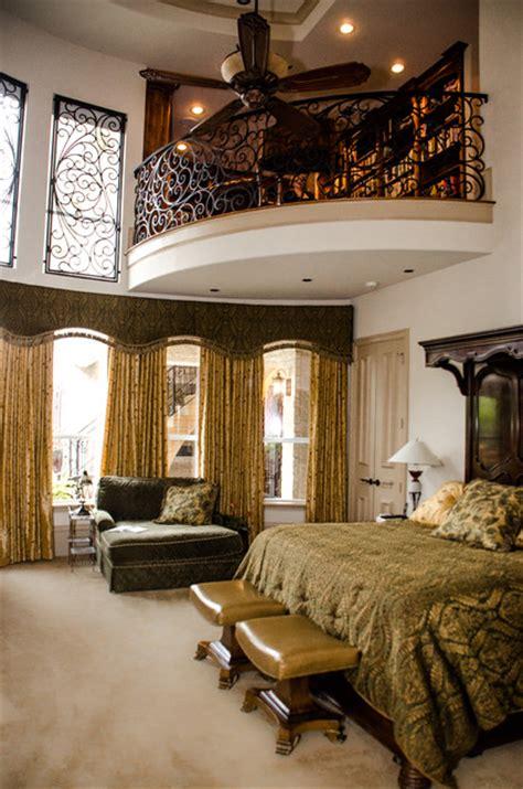 master library mediterranean bedroom dallas