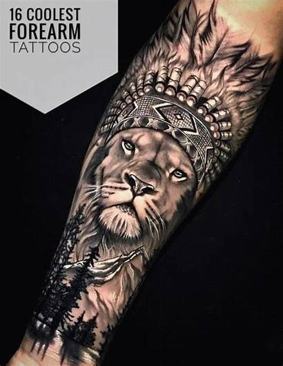 Forearm Tattoos Coolest Tattoo Lion Guys Cool
