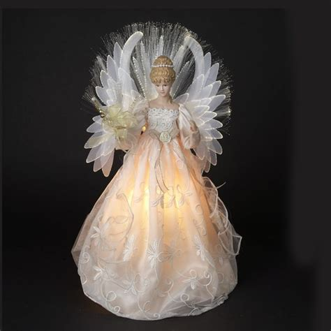 elegant angel tree topper angels 18 quot pearl white
