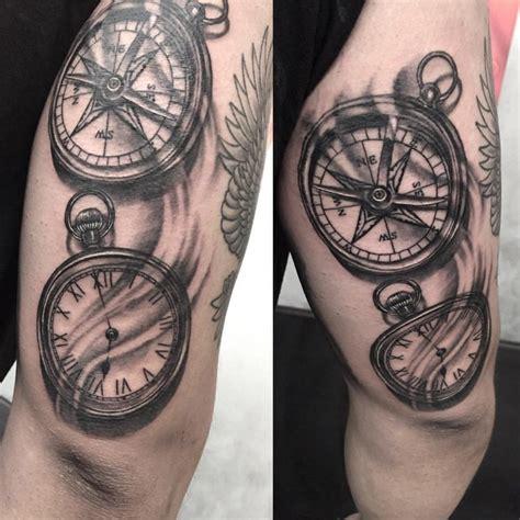 tatouage rose des vents  boussole significations