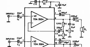 Schematic Diagram  10 10w Stereo Amplifier For Car Radio