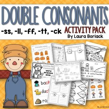 Double Final Consonants Ss, Ll, Ff, Tt ,ck Activity Pack Tpt