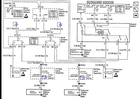 2009 Chevy Malibu Electrical Diagram by The Emergency Blinkers And Turn Signals On My 2000 Malibu