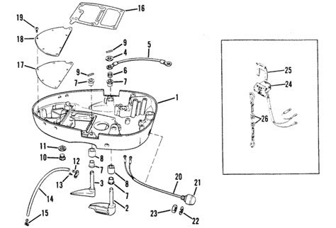 Mercury Marine Cylinder Bottom Cowl Assembly Parts