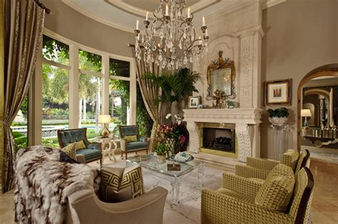 Hollywood Glamour  Traditional  Living Room  Miami  By