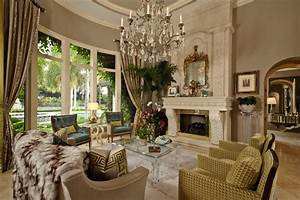 Hollywood, Glamour, -, Traditional, -, Living, Room, -, Miami