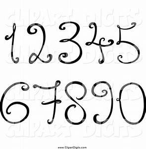 Royalty Free Black and White Stock Number Designs