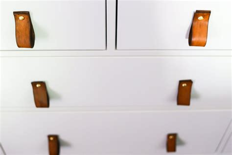 leather drawer pulls easy diy leather drawer pulls renovations