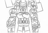 Coloring Superhero Pages Lego sketch template