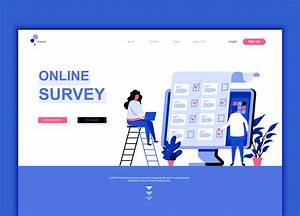 Template Questionnaire Modern Flat Web Page Design Template Concept Of Online