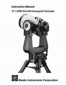 Download Free Pdf For Meade Lx200gps Telescope Manual