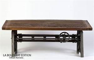 Table De Salon Industrielle : table basse lepic bois m tal usine atelier industrie la boutique paris ~ Teatrodelosmanantiales.com Idées de Décoration