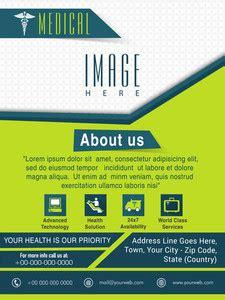 health care template brochure  flyer design