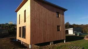 maison bois cube cheap maison ossature bois rf maison With beautiful plan de maison cubique 8 maison cubique cube ou carree en ossature bois par votre