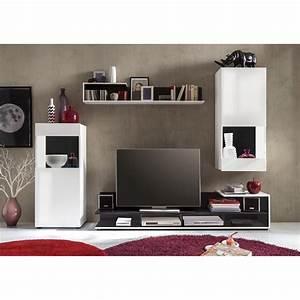 Wohnwand Weiß Günstig : wohnwand minaya 4 teilig wei schwarz trendteam g nstig online kaufen ~ Eleganceandgraceweddings.com Haus und Dekorationen