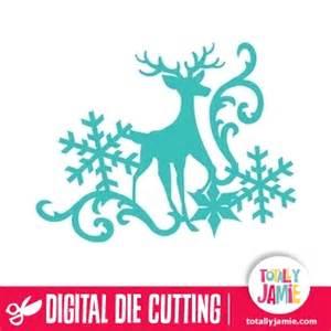 teal kitchen ideas reindeer snowflake flourish 3 totallyjamie svg cut files graphic sets clip arts