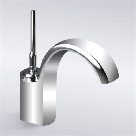 one hole sink faucet chrome finish waterfall single hole bathroom sink faucet