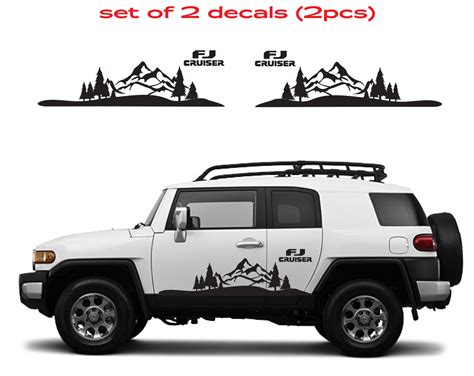 mountain jeep decals product toyota fj cruiser mountain decal vinyl side door