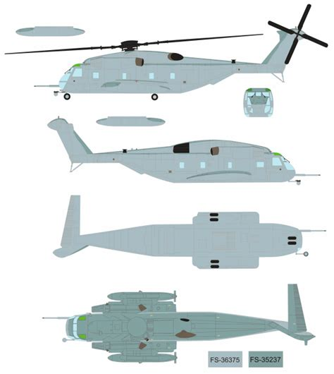 bureau ch麩e sikorsky ch 53e sea stallion color profile and paint guide