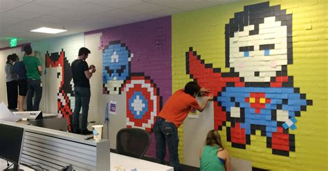 post it bureau bored employee uses 8 024 post it notes to transform
