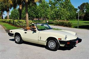 1980 Triumph Spitfire Roadster Absolutely Gorgeous  Low Miles