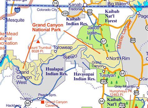 arizona map  national parks