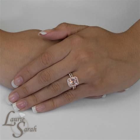 rose gold morganite engagement ring pink morganite halo