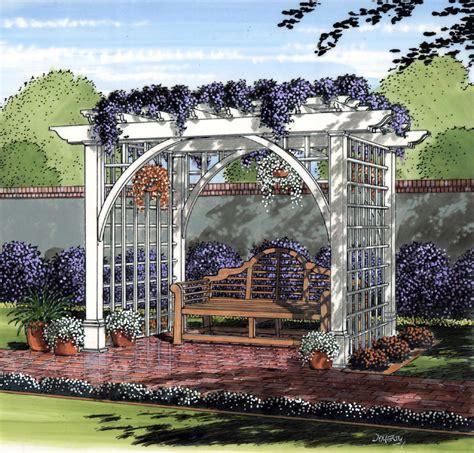 Garden Arbor Plans by Project Plan 504889 Garden Arbor