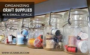 Organizing Craft Supplies in a Small Space - Food Life Design