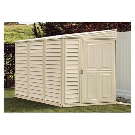 8 By 4 Shed by Duramax 4x8 Sidemate Vinyl Shed With Foundation Kit 06625